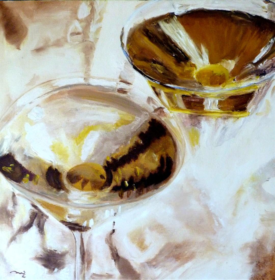 Drink mit Olive