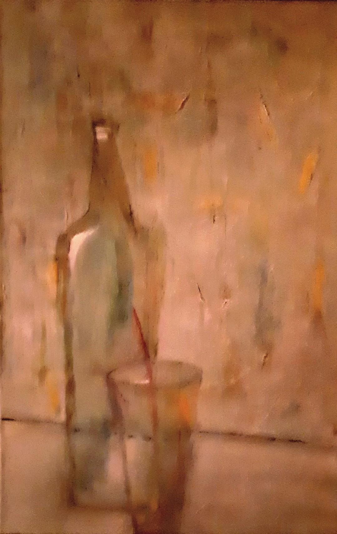 Flasche mit Glas